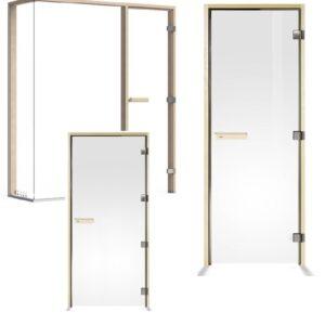 Двери и стеклянные секции для саун